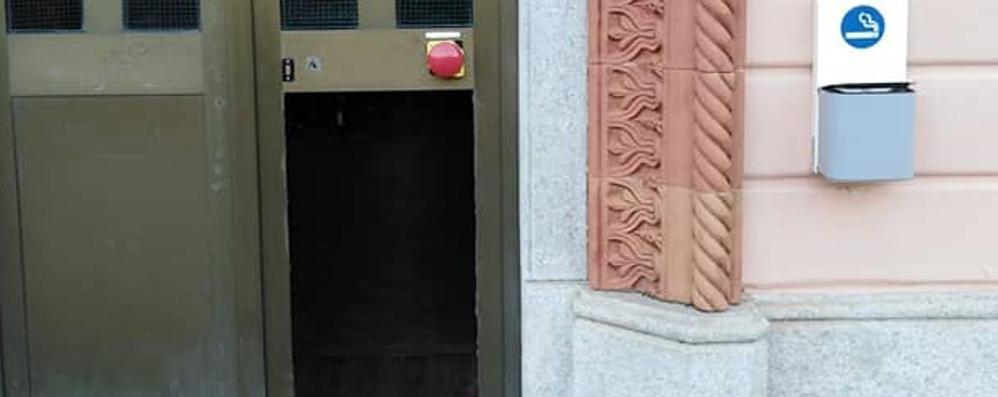 Alla stazione di Olcio  Un altro raid dei vandali