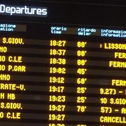 Guasto sulla linea tra Monza e Lissone    Ritardi di 100 minuti e treni cancellati