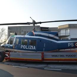 Annone, l'elicottero in avaria   è stato recuperato dai vigili del fuoco