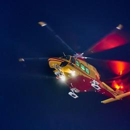 Esino, cinque scout bloccati   Recuperati con l'elicottero