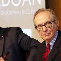 Padoan a Lecco   «non si investe più»