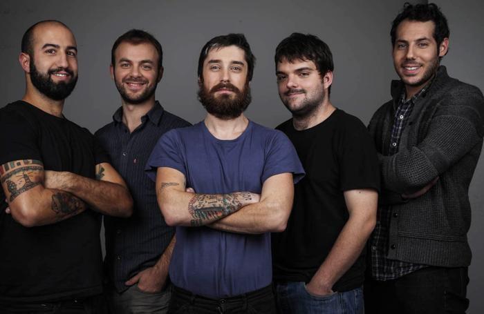 Il Terzo Segreto di Satira. Collettivo di videomaker. Da sinistra a destra: Pietro Belfiore, Davide Rossi, Andrea Fadenti, Davide Bonacina, Andrea Mazzarella (cresciuto a Capiago Intimiano).