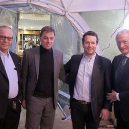 Il presidente Buonfiglio a Lecco  «Canottieri fiore all'occhiello»