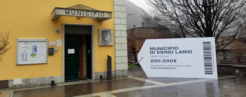 Esino: «Così non si va avanti Vendo il municipio e le piazze»