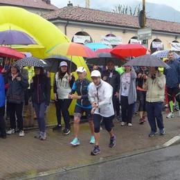 Erba, in duecento per la piccola Carola  Camminata più forte della pioggia
