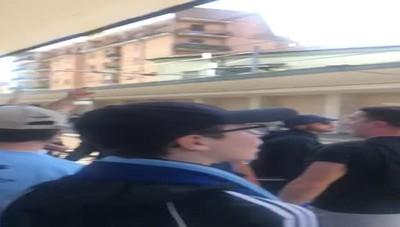 Arrivo tifosi del Lecco a Monza