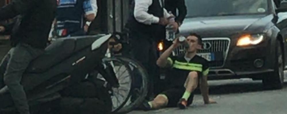 Garlate, Auto pirata urta ciclista:   «Si faccia vivo»