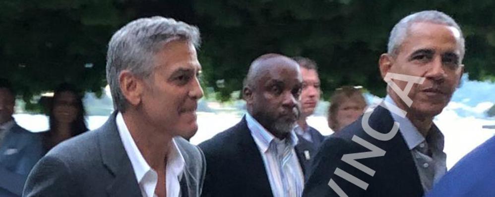 VIDEO ESCLUSIVO    L'arrivo di Clooney e Obama  a Villa d'Este di Cernobbio