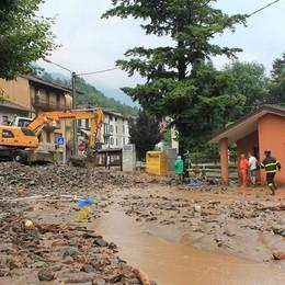 Valsassina, dopo l'alluvione  dichiarato lo stato di emergenza
