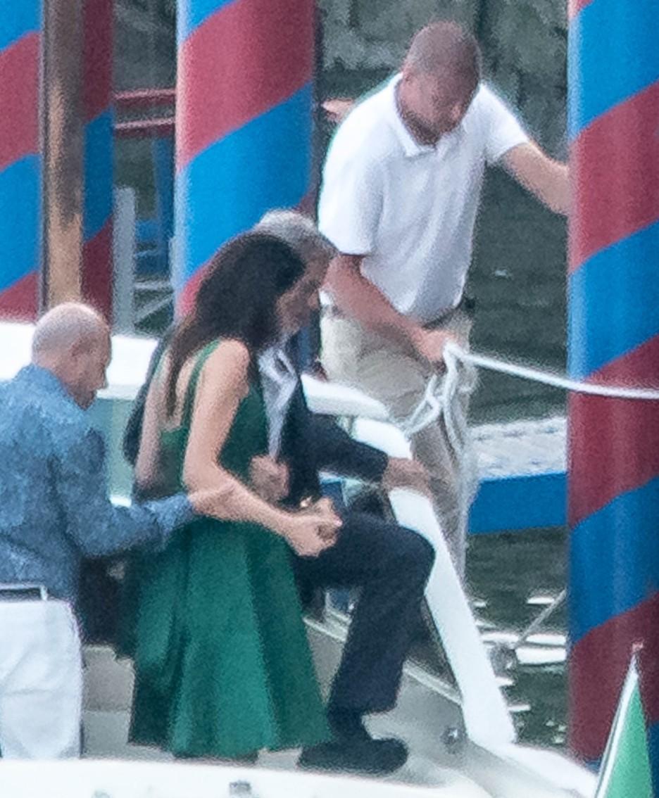 Cernobbio, Villa d'Este: George Clooney con Amal e ospiti