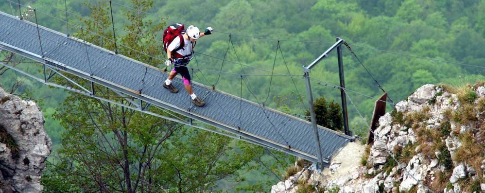 Lecco, 7 escursionisti tedeschi  bloccati sul Resegone