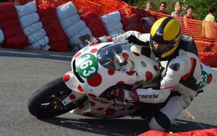 Testoni campione europeo  di moto velocità in salita