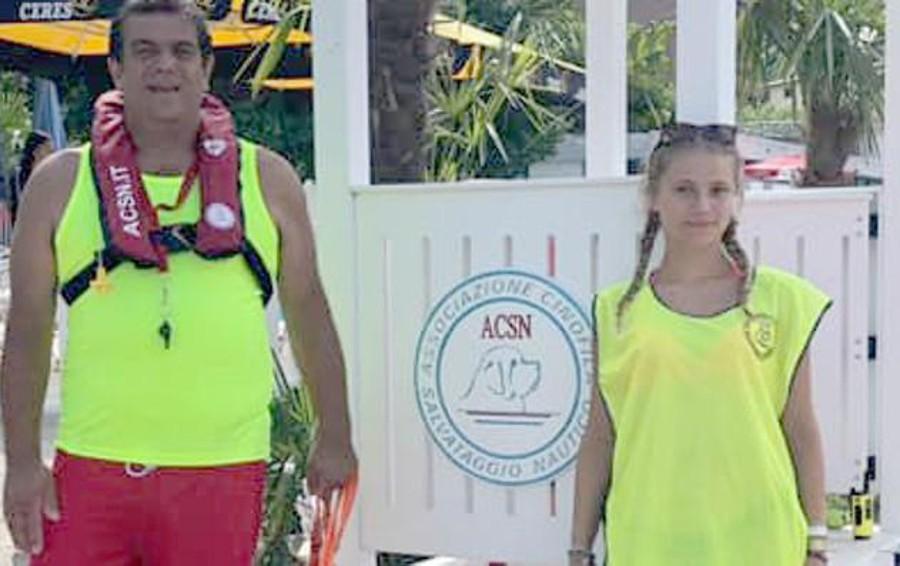 """Bellano , """"Angeli"""" della spiaggia in azione  In cinque anni cinque salvataggi"""