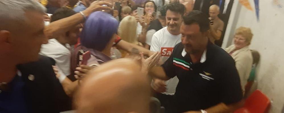 Salvini a Colico: «Giustizia e Tav  Governo a rischio con i no»