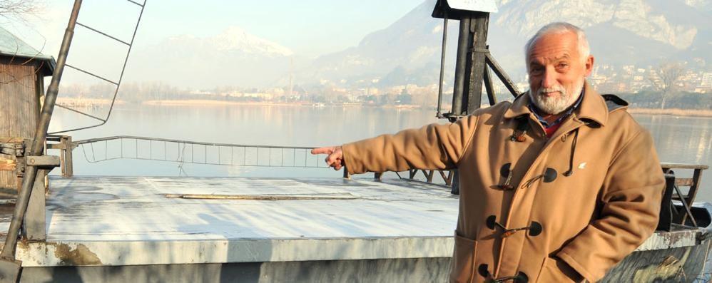 Calolzio, addio al traghetto leonardesco Il Parco lo manda in pensione