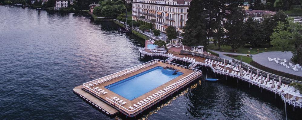 """La piscina di Villa d'Este  navigherà fino al """"pratone"""""""