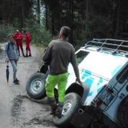 Valfurva, incidente sulla pista forestale