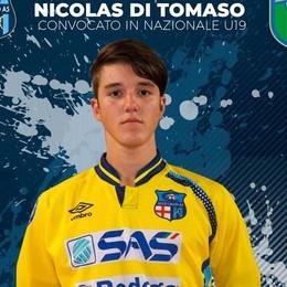 Il portiere Di Tomaso  nlla Nazionale U. 19