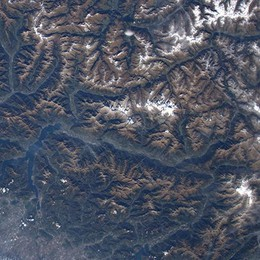 La Valtellina dallo spazio  Il regalo di Parmitano