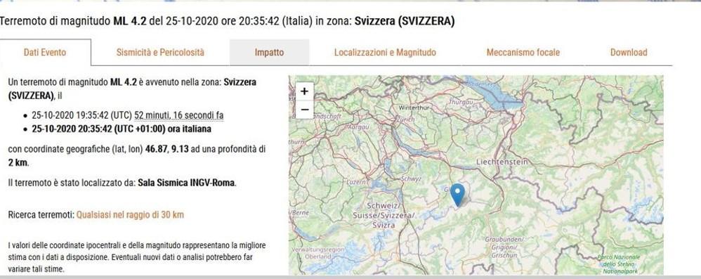 Terremoto in Svizzera  La scossa avvertita  anche nel Lecchese