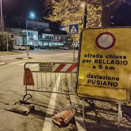 Strada Lariana ancora chiusa  Il sindaco di Oliveto: «Ora basta»
