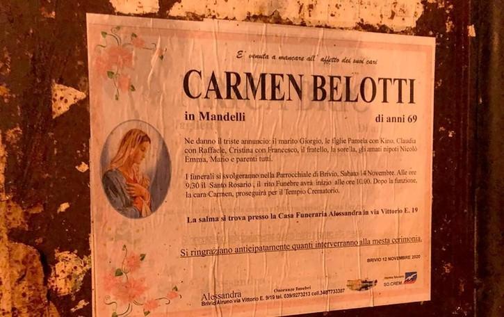 Brivio, muore di Covid  Addio a Carmen Belotti