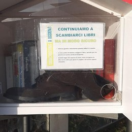 Vandalismi a Oggiono  Libri gratis presi di mira