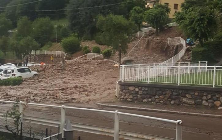 Casargo, post alluvione,   si parte dal torrente Spirsol