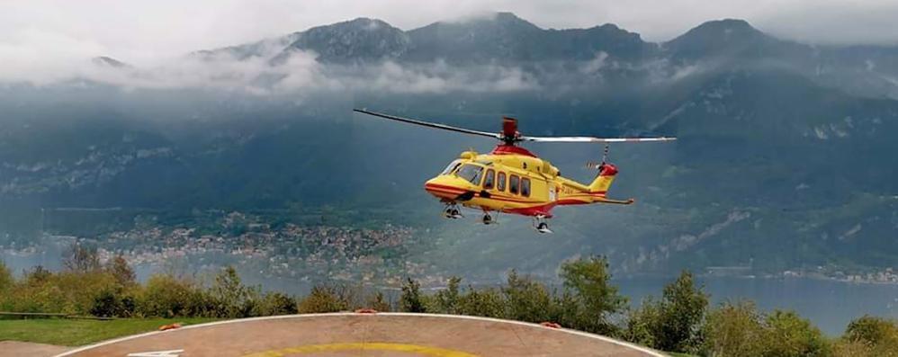 Bellagio, ustionato al volto  Soccorso con l'elicottero