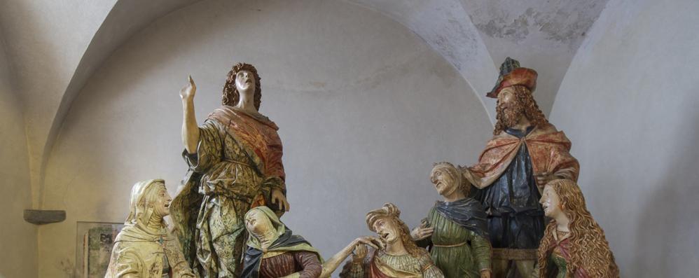 """Bellano, """"Compianto sul Cristo morto""""   La scultura va al Louvre"""