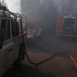 Domato l'incendio di Surgno  Riaperta anche la Provinciale 67