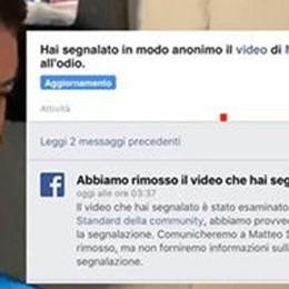 I ritardi di Facebook  su Salvini al citofono