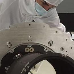 Lecco. Un satellite cinese  con gli specchi Media Lario