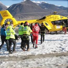 Cade sulla pista di sci a Bobbio  Grave una bambina di 12 anni
