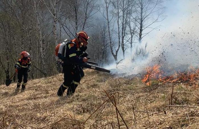 Pompieri e squadra antincendio hanno spento l'incendio alle 19
