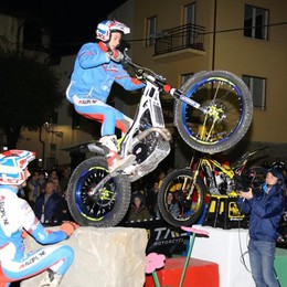 Tricolore ammainato   per il trial indoor