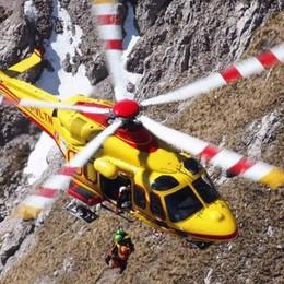 Malore sulla direttissima in Grignetta  Salvato dall'elicottero del 118