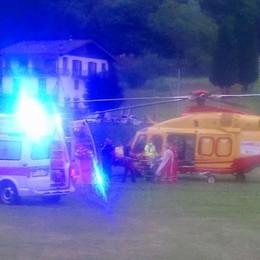 Casargo, cade in bicicletta  Soccorso con l'elicottero