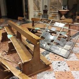 Vento senza pietà a Molteno  Chiesa di San Giorgio devastata