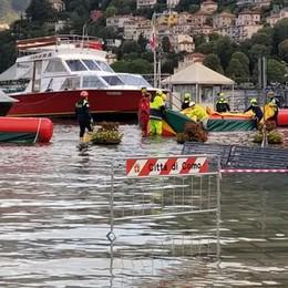 Lungolago, ripristinate le dighe  Auto deviate in piazza Cavour