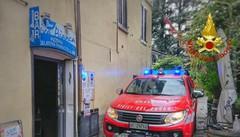 """Lierna, incendio al bar """"Riva Bianca""""  Fiamme spente dai Vigili del Fuoco"""