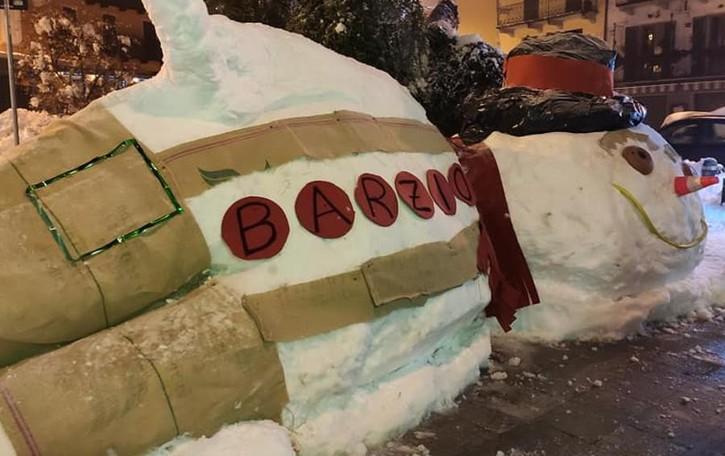 Barzio, polemica sul pupazzo di neve   «Era zona rossa, violata la normativa»