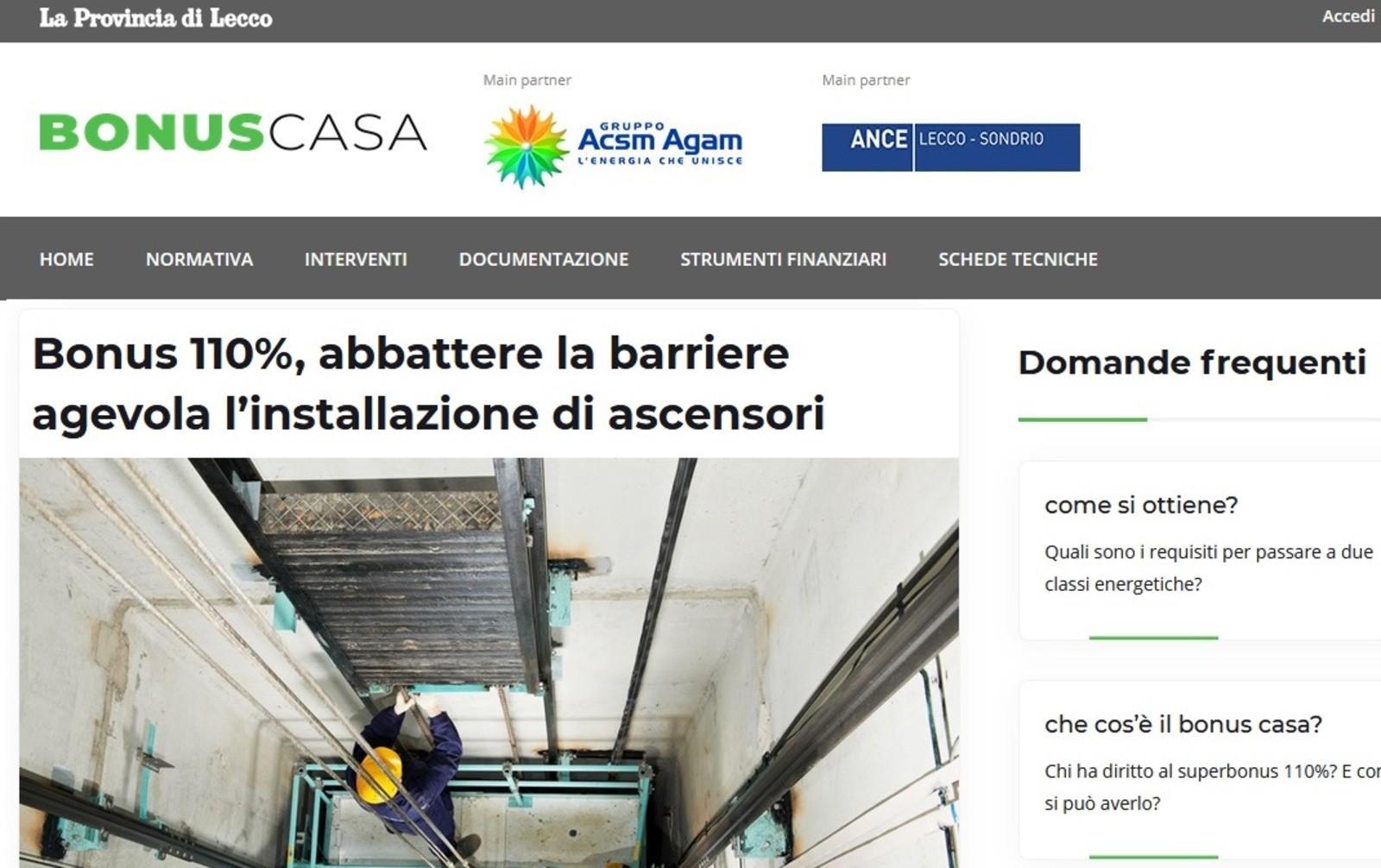Bonus 110%, nasce il portale BonusCasa per aiutare le famiglie e le imprese locali