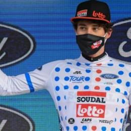 Conca  maglia a pois  al Giro di Provenza