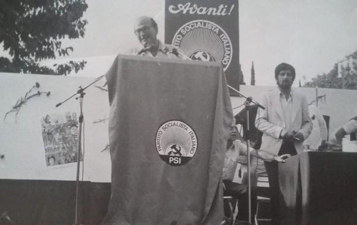 Craxi a Perledo, roccaforte socialista  E quel comizio negli anni di piombo