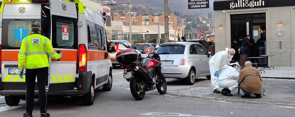 Scontro auto - moto  Paura a Mandello