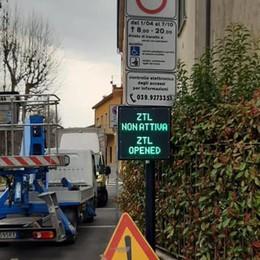 Ztl a Brivio da aprile  Ecco i cartelli luminosi