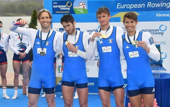 Una pioggia di medaglie   sui remi lecchesi agli Europei