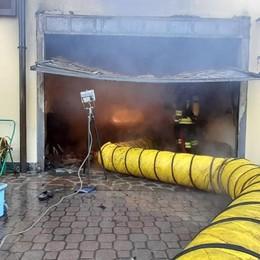 Incendio a Montevecchia  Bruciata un'autovettura