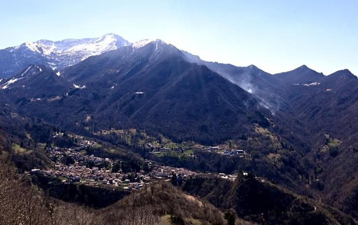Rogo sul Monte Croce  È caccia al piromane
